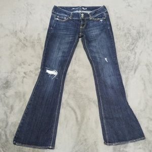 AMERICAN EAGLE ARTIST DISTRESSED WIDE FLARE JEANS